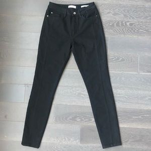 Guess black high waisted jeans